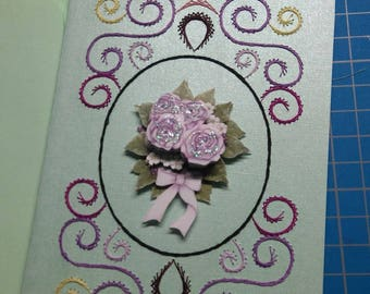 Embroidered greeting card and 3D 744