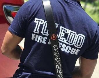 "Custom Firefighter/EMS Radio Strap Adjustable 1.5"" Wide"