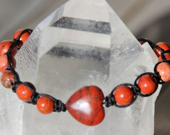 shamballa bracelet with red Jasper beads