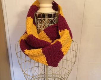 Gryffindor/Harry Potter inspired infinity scarf