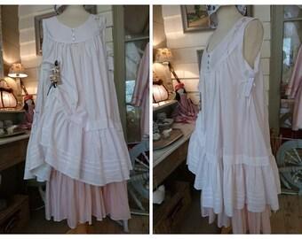 DRESS OMBELINE white romantic, Victorian, shabby chic, Bohemian, hippie Gypsy