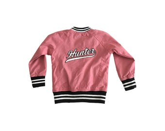 Personalized Pink Kids Bomber Jacket