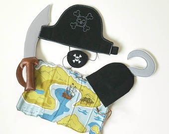 Pirate Pretend Play ~ Pirate Eye Patch ~  Pirate Birthday Party ~ captain hook ~ Dress Up ~ Halloween ~ Talk like a Pirate