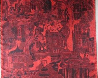 RICHARD ALLAN collectable vintage silk twill scarf Mount Stewart House & Gardens Ireland very good condition
