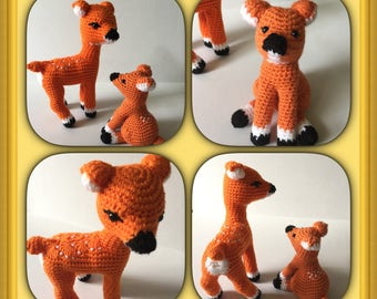 Ready to ship Amigurumi toys- Crocheted Forest Animal- Crocheted Mouse.