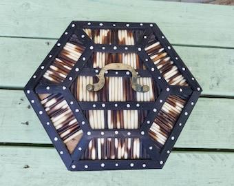 Porcupine Quill Hexagonal Box