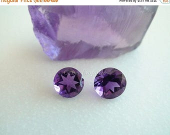 ON SALE February Birthstone Natural African Amethyst 8 MM Faceted Round. Excellent Color and Quality. Price per piece.