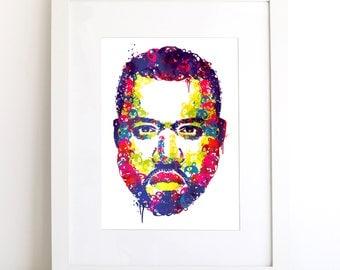 Kanye West Illustrated Art Print