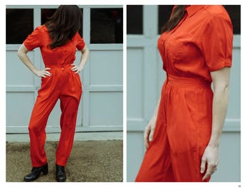 Vintage Red Jumpsuit Small | Red One Piece Suit