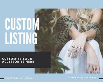 CUSTOM LISTING | Design Your Own Necklace HERE | Customized Wording | Personalization | Endless Possibilities | Any Finish & Length