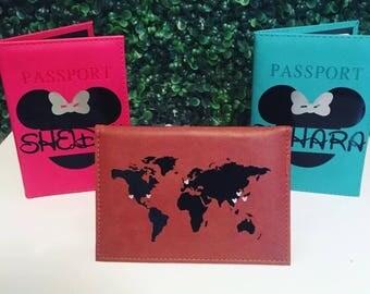 Disney Map Passport Cover