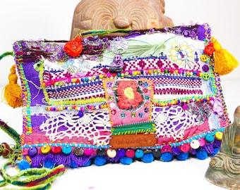 Tibetan ethnic-inspired Boho style shoulder bag