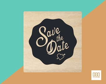 Save the Date Seal - 3cm Rubber Stamp (DODRS0137)