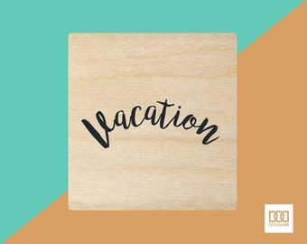 Vacation - 3cm Rubber Stamp (DODRS0152)