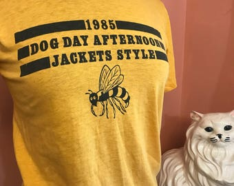 Vintage 80s Shirt,  1985 Dog Day Afternoon, Sports, Summer Recreation, T-shirt (A446)