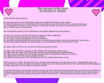 The Journey of the Heart - Printable Poetry Instant Download