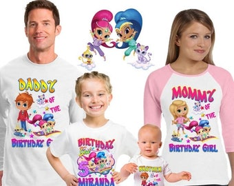 15% Off Shimmer and shine shirt/shimmer and shine shirt / family matching shirts/shimmer and shine birthday party shirt /shimmer and shine