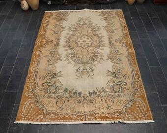 Anatolian Tradational Rug, Turkish Rug, 3.9 x 5.6 Bohemian Rug, Old Rug, Decorative Rug, Area Rug, Floor Rug, Free Shipping No 1101
