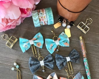 JUST PEACHY Bow Planner Clip or TN Charm
