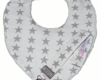 "All baby bib bandana and pacifier ""ALTAÏR"" - Baby Burp"