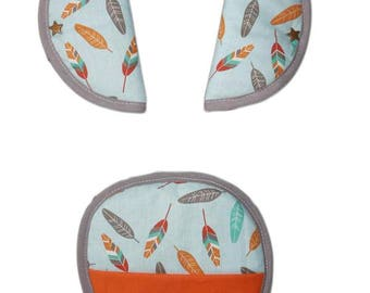 Strap covers-for safety small feathers - protects belt for baby and children - baby safety - security - Indian fabric