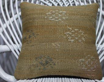 made by Sarıkaya Turkey kilim pillow 12x12 Turkey flat woven anatolian Turkey kilim embroidered kilim pillow 12x12 pillow covers  387