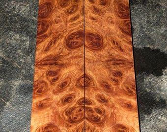 Stabilized York Gum Burl Knife Scales E-080