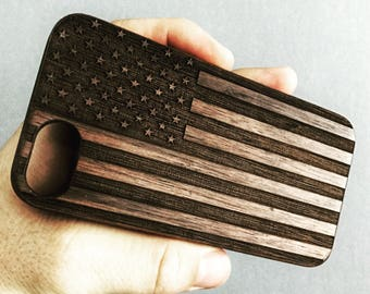 American Flag iPhone 6 / 6s case | iPhone 6S Case | Real Wood Case | Laser Engraved | Laser Etc USA Flag United States of America