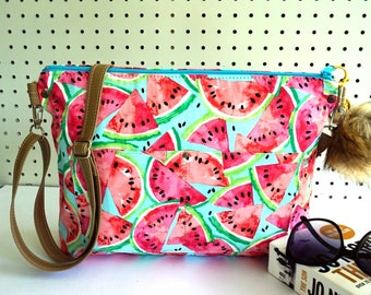 Summer purse, Watermelon summer bag,Summer cross body, Summer handbag, Summer shoulder bag, Zipper Handbag, Gift for her
