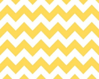 Chevron FLANNEL- Per Yd - Riley Blake designs - RBD Designers - Yellow on white