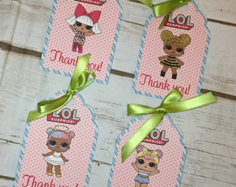 LOL Dolls Favor Tags-10 Tags/Party Decor