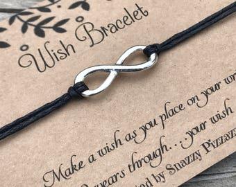 Infinity Wish Bracelet, Make a Wish Bracelet, Wish Bracelet, Friendship Bracelet, Minimalist Jewelry, Infinity Bracelet, Gift for Her