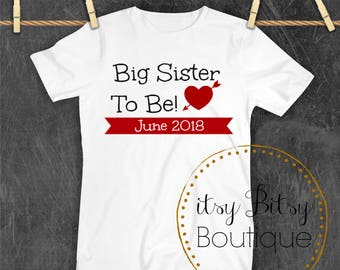 Big Sisiter To Be Valentine's Announcement
