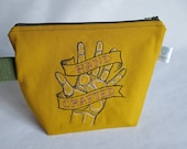 Hand crafted Hand Embroidered Zippered Pouch