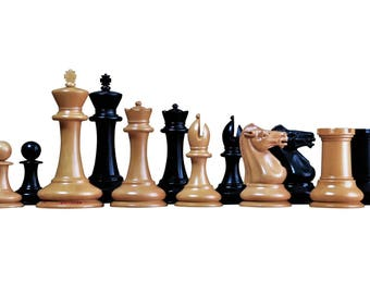 Antique Leuchars Overstamped Chess Pieces
