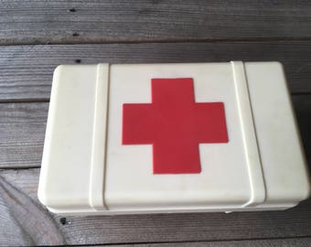 Soviet Vintage First Aid Box, Red Cross Box, Medical Box