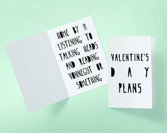 Jonathan Byers Talking Heads Valentine's Day Stranger Things Inspired Greeting Card