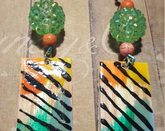 80's Zebra Earrings