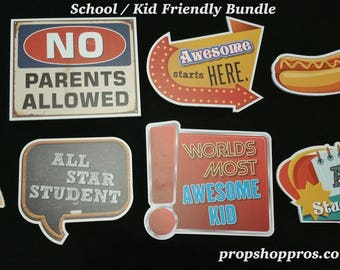 School Signs | School Props | Photo Booth Props | Prop Signs
