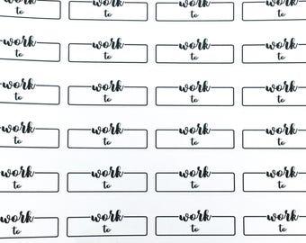 Bullet Journal -  work label | Planner Sticker, bujo planner sticker, work planner sticker, work schedule, work label sticker, work hours