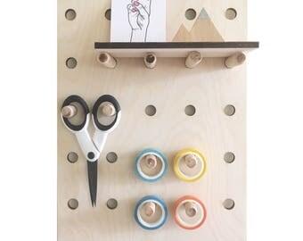 Peg board • A4 Peg Board • Storage • Craft Display • Display Board • Large Peg Board • Desk organisation