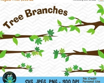 75% OFF SALE Tree Branches Clipart, Tree Limbs Clipart, Branches Clipart, Tree Branch Elements, Commercial Use - UZ820