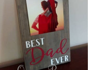 Father's Day Gift Idea.Best Dad Ever Frame.Dad Frame.Picture Frame..Display Photos.Photo Hanger.Dad Gift.Gift for Dad.Dad Picture Frame