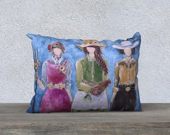 Sisterhood of Prairie Love: Fine Art Pillow