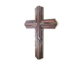 "30"", Large Reclaimed Wood Cross, Rustic Wood Cross, Christian Decor, Sanctuary Cross, Large Wall Cross, Wood Wall Cross, Christian Cross"