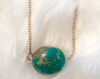 Small Aqua Stone Necklace