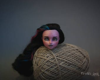 Only head!! OOAK Monster High Dracubecca