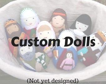 Felt saint dolls bookmarks finger puppets by mylittlefeltfriends custom wool felt saint doll christmas first holy communion catholic toys felt negle Images