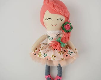 handmade, one of a kind doll, textile doll