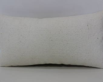 12x24 Flat Woven Kilim Pillow Ethnic Pillow 12x24 White Kilim Pillow Decorative Kilim Pillow Bedroom Pillow Cushion Cover  SP3060-1144